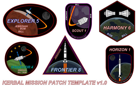 Kerbal Mission Patch Template